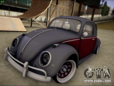 Volkswagen Beetle for GTA San Andreas side view