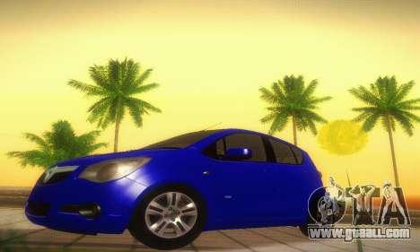 Vauxhall Agila 2011 for GTA San Andreas left view