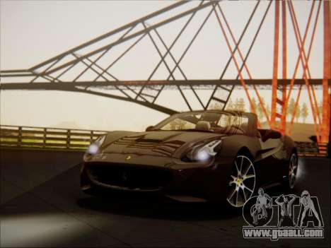 Ferrari California 2009 for GTA San Andreas left view