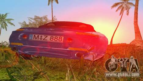 BMW Z8 for GTA Vice City upper view