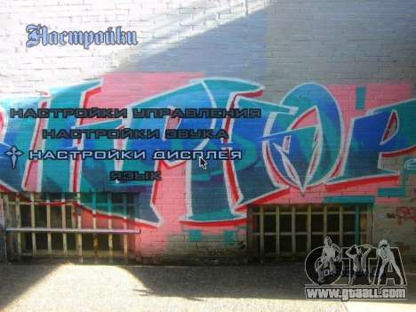 The theme of the main menu and load in graffiti  for GTA San Andreas