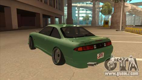Nissan Silvia S14 Kouki Hellaflush V2 for GTA San Andreas back view