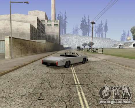 Buccaneer (beta) for GTA San Andreas left view