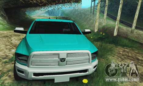 Dodge Ram 2500 HD for GTA San Andreas back view