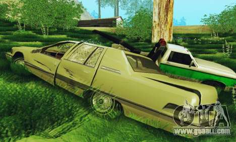 Buick Roadmaster Broken for GTA San Andreas back left view