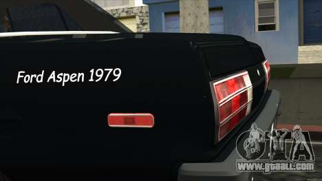 Ford Aspen 1979 for GTA San Andreas back view