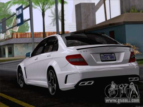Mercedes-Benz C 63 AMG for GTA San Andreas left view