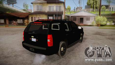 Chevrolet Tahoe LTZ 2013 Unmarked Police for GTA San Andreas right view