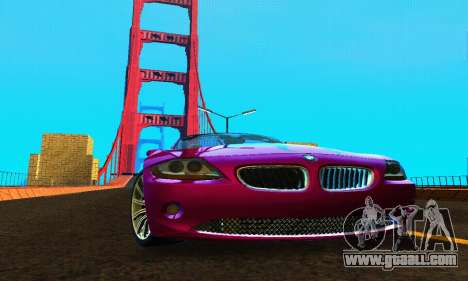 BMW Z4 2005 for GTA San Andreas back view