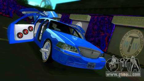 Lincoln Town Car Tuning for GTA Vice City inner view