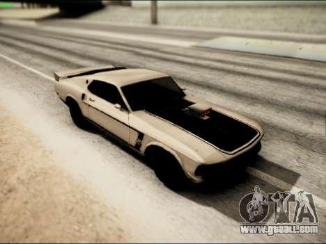 Ford Mustang Boss 302 1969 for GTA San Andreas