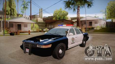 Vapid GTA V Police Car for GTA San Andreas