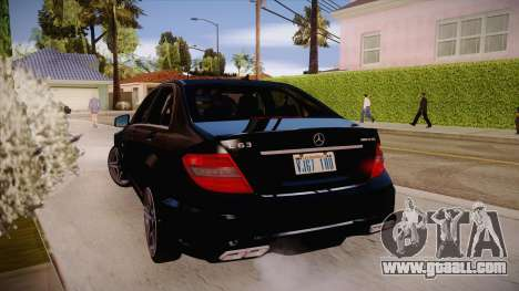 Mercedes-Benz C 63 AMG for GTA San Andreas right view