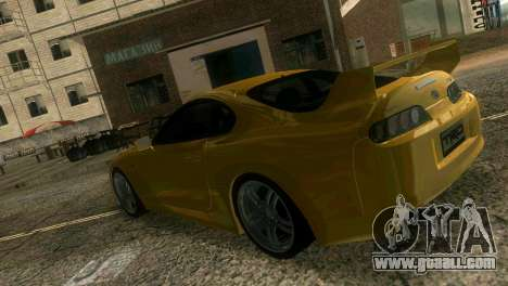 Toyota Supra TRD for GTA Vice City inner view