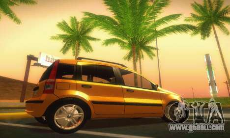 Fiat Panda Taxi for GTA San Andreas left view