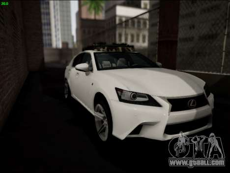 Lexus GS 350 for GTA San Andreas side view