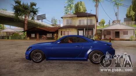 Lexus SC430 2JZ-GTE Black Revel for GTA San Andreas left view