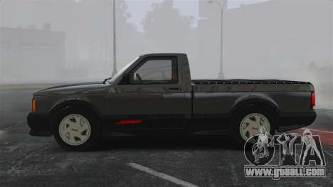 GMC Syclone 1992 for GTA 4 left view