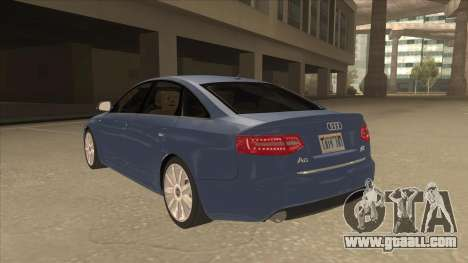 2010 Audi A6 4.2 Quattro for GTA San Andreas back view