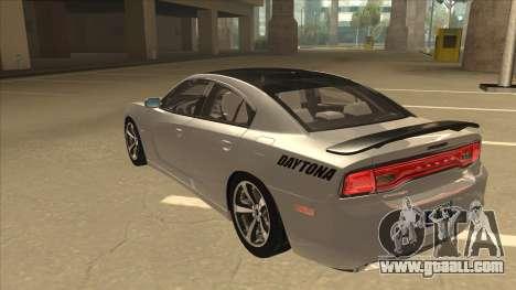Dodge Charger RT Daytona 2011 V1.0 for GTA San Andreas back view