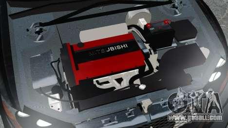 Mitsubishi Lancer Evolution VII Freestyle for GTA 4 inner view