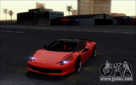 Ferrari 458 Italia Novitec Ross for GTA San Andreas back left view