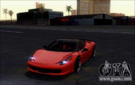 Ferrari 458 Italia Novitec Ross for GTA San Andreas back left view