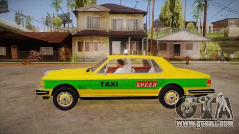 Rolls-Royce Silver Spirit 1990 Taxi for GTA San Andreas left view