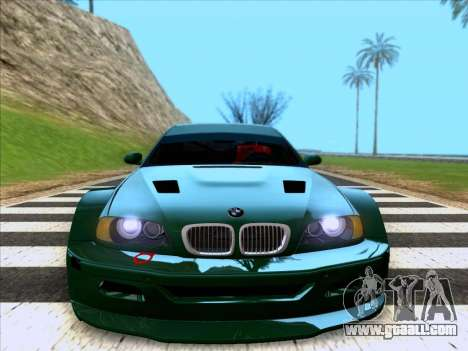 BMW M3 E46 GTR for GTA San Andreas right view