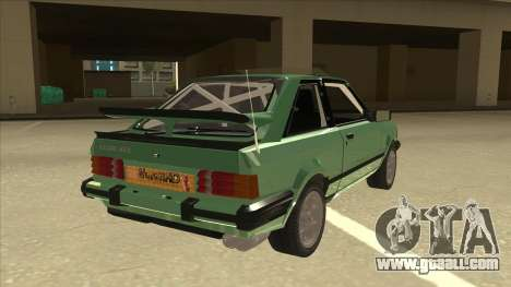Ford Escort XR3 With Cosworth Spoiler for GTA San Andreas right view