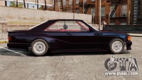 Mercedes-Benz C126 500SEC for GTA 4 left view