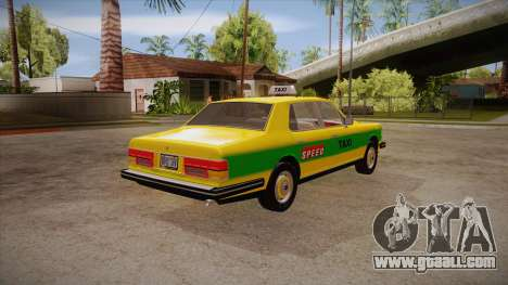 Rolls-Royce Silver Spirit 1990 Taxi for GTA San Andreas right view