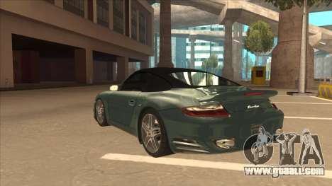 Porsche 911 Turbo Cabriolet 2008 for GTA San Andreas side view
