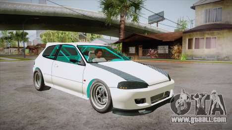 Honda Civic (EG6) Drag Style for GTA San Andreas back view