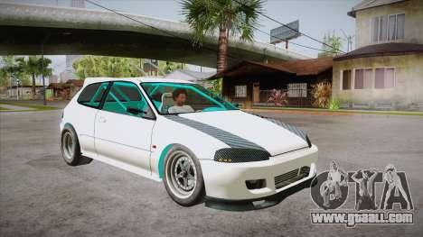 Honda Civic (EG6) Drag Style for GTA San Andreas back view