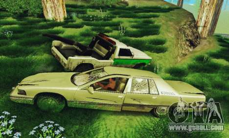 Buick Roadmaster Broken for GTA San Andreas back view