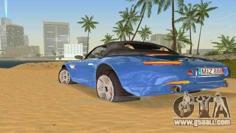 BMW Z8 for GTA Vice City bottom view
