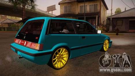 Honda Civic SI Hellaflush for GTA San Andreas right view