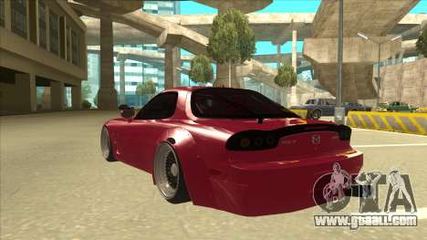 Mazda RX7 FD3S Rocket Bunny for GTA San Andreas back view