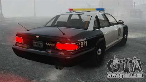 A Police Cruiser GTA V for GTA 4 back left view
