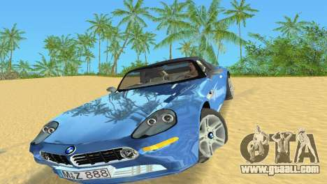 BMW Z8 for GTA Vice City left view