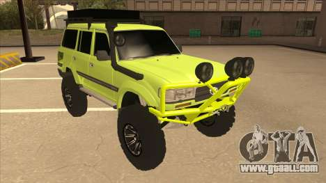 Toyota Land Cruiser for GTA San Andreas left view