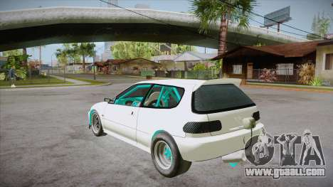 Honda Civic (EG6) Drag Style for GTA San Andreas back left view