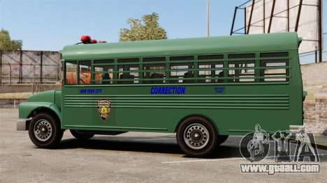 The prison bus, New York City for GTA 4 left view