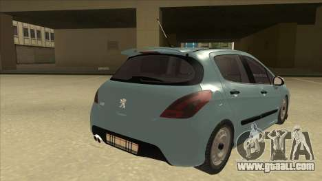 Peugeot 308 Burberry Edition for GTA San Andreas right view