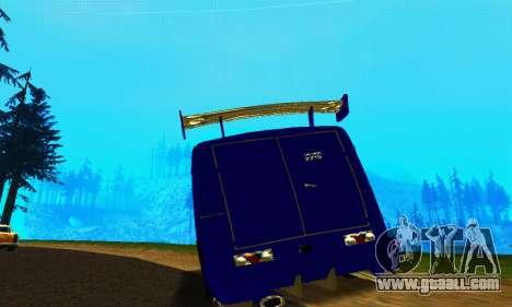 IZH 2715 Novosib Tuning for GTA San Andreas back view