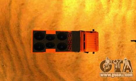 GAZ 66 Caucasus for GTA San Andreas back view