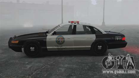 A Police Cruiser GTA V for GTA 4 left view