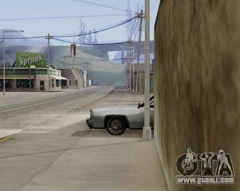 Buccaneer (beta) for GTA San Andreas back left view