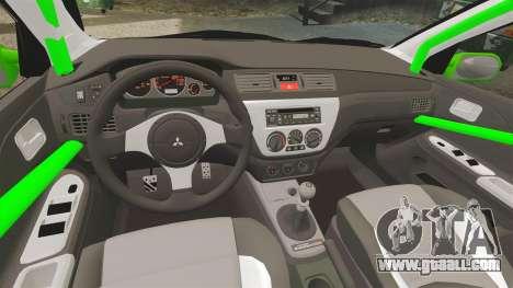 Mitsubishi Lancer Evolution VII Freestyle for GTA 4 side view